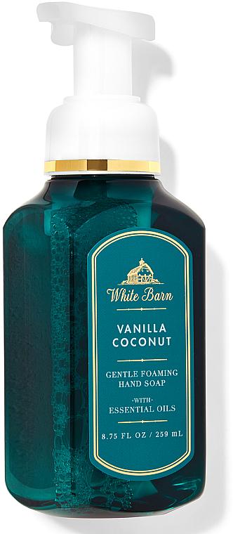 Vanilla Coconut Foaming Hand Soap - Bath and Body Works White Barn Vanilla Coconut Gentle Foaming Hand Soap — photo N1