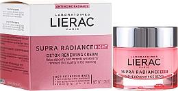 Fragrances, Perfumes, Cosmetics Detox Restoring Night Cream - Lierac Supra Radiance Creme Renovatrice Detox Nuit