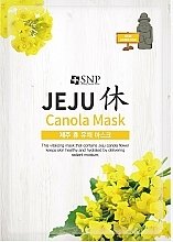 Moisturizing Facial Sheet Canola Mask - SNP Jeju Rest Canola Mask — photo N1