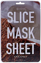 "Fragrances, Perfumes, Cosmetics Facial Sheet Mask ""Coconut"" - Kocostar Slice Mask Sheet Coconut"