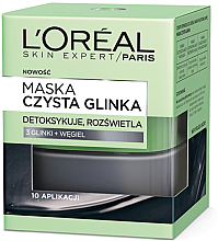 """Fragrances, Perfumes, Cosmetics Detoxifying and Brightening Face Mask """"Pure Clay"""" - L'Oreal Paris Skin Expert"""