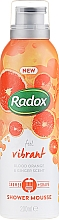 Fragrances, Perfumes, Cosmetics Shower and Shawing Mousse - Radox Feel Vibrant Blood Orange & Ginger Scent Shower Mousse
