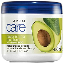 Fragrances, Perfumes, Cosmetics Avocado Oil Moisturizing Face & Body Cream - Avon Care Replenishing Moisture With Avocado Multipurpose Cream For Face, Hands And Body