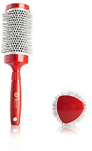 Fragrances, Perfumes, Cosmetics Thermal Hair Brush 53 mm - Upgrade Triangular Concave Thermal Brush Red Angle