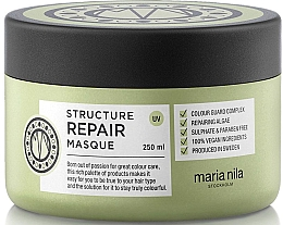 Fragrances, Perfumes, Cosmetics Dry & Damaged Hair Mask - Maria Nila Structure Repair Masque