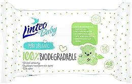 Fragrances, Perfumes, Cosmetics Baby Wet Wipes, 48 pcs - Linteo Baby Biodegradable