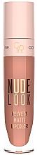 Fragrances, Perfumes, Cosmetics Matte Lipstick - Golden Rose Nude Look Velvety Matte Lipcolor