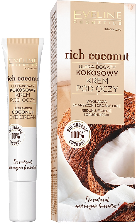 Ultra-Rich Coconut Eye Cream - Eveline Cosmetics Rich Coconut Eye Cream