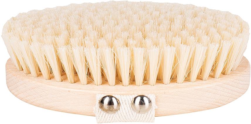Massage & Wash Brush, soft fiber, light-brown - Miamed