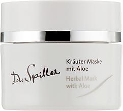 Fragrances, Perfumes, Cosmetics Aloe Vera Herbal Mak for Problem Skin - Dr. Spiller Intense Herbal Mask With Aloe