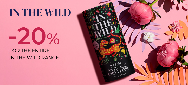 20% off the entire In The Wild range. Prices on the site are indicated with a discount