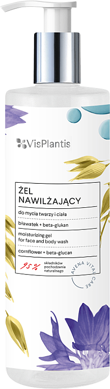 Cleansing Face and Body Gel - Vis Plantis Avena Vital Care Moisturizing Gel For Face And Body Wash