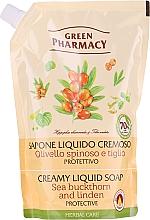 "Fragrances, Perfumes, Cosmetics Liquid Soap ""Sea buckthorn & Linden"" - Green Pharmacy (doypack)"