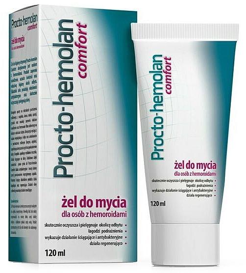 Cleansing Gel for Hemorrhoids - Aflofarm Procto-Hemolan Comfort Cleaning Gel