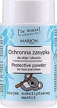 Fragrances, Perfumes, Cosmetics Protective Foot & Shoe Powder with Eucalyptus Oil & Menthol - Marion Dr Koala Protective Powder