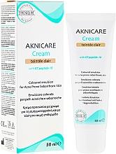 Fragrances, Perfumes, Cosmetics Acne & Blackhead Correcting Cream - Synchroline Aknicare Cream Teinte