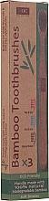 Fragrances, Perfumes, Cosmetics Bamboo Toothbrush Set - Xoc Eco Friendly Soft Bristle Toothbrush (3 szt.)