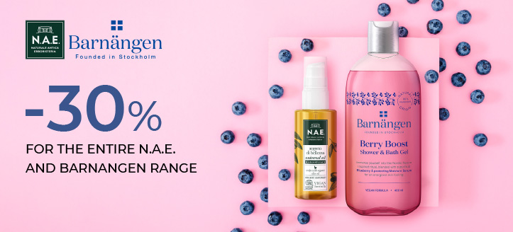 30% off the entire N.A.E. and Barnangen range. Prices on the site already include a discount