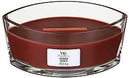 Fragrances, Perfumes, Cosmetics Scented Candle in Glass - Woodwick Hearthwick Flame Ellipse Candle Redwood
