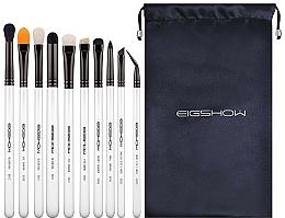 Makeup Brush Set, 10 pcs - Eigshow Professional Eye Brush Light Gun Black Set — photo N1
