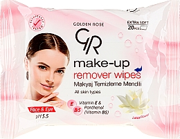 Fragrances, Perfumes, Cosmetics Makeup Remover Wipes - Golden Rose Extra Soft Make-up Remover Wipes