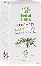 "Fragrances, Perfumes, Cosmetics Essential Oil ""Rosemary"" - Bulgarian Rose Herbal Care Essential Oil"
