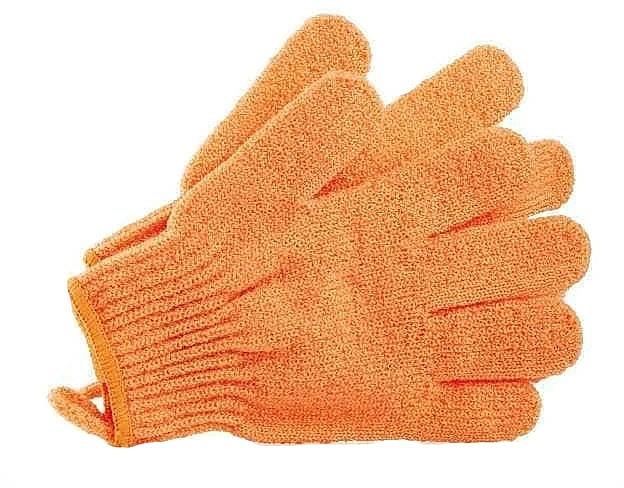 Bath Gloves, orange - The Body Shop Exfoliating Bath Gloves — photo N1
