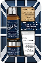 Fragrances, Perfumes, Cosmetics Set - Baylis & Harding Fuzzy Duck Men's Ginger & Lime (b/wax/50g + soap/25g + b/sh/100ml + balm/30ml)