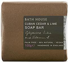 Fragrances, Perfumes, Cosmetics Bath House Cuban Cedar & Lime - Perfumed Soap
