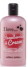 Fragrances, Perfumes, Cosmetics Shower Cream & Bath Foam - I Love... Strawberries & Cream Bubble Bath And Shower Creme