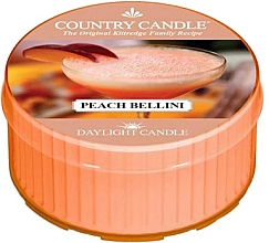 Fragrances, Perfumes, Cosmetics Tea Light Candle - Country Candle Peach Bellini Daylight