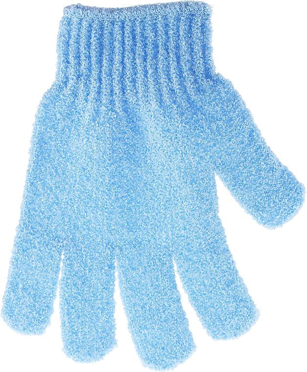 Bath Sponge-Glove, blue - Top Choice