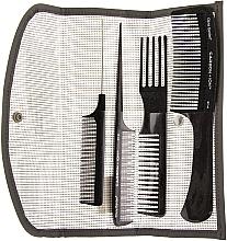 Fragrances, Perfumes, Cosmetics Comb Set ST - Olivia Garden Carbon
