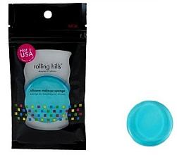 Fragrances, Perfumes, Cosmetics Silicone Makeup Sponge, blue - Rolling Hills Silicone Makeup Sponge Blue