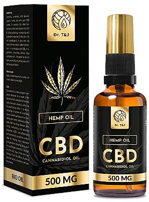Natural Hemp Oil Bio CBD 500mg - Dr. T&J Bio Oil