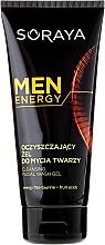 Fragrances, Perfumes, Cosmetics Cleansing Face Gel - Soraya Men Energy