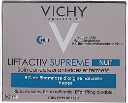 Fragrances, Perfumes, Cosmetics Anti-Wrinkle and Lifting Night Cream - Vichy LiftActiv Nuit Derm Source