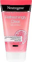 Fragrances, Perfumes, Cosmetics Pink Grapefruit and Vitamin C Face Scrub - Neutrogena Refreshingly Clear Daily Exfoliator