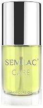 "Fragrances, Perfumes, Cosmetics Manicure Oil ""Lemon"" - Semilac Care Manicure Oil Lemon"