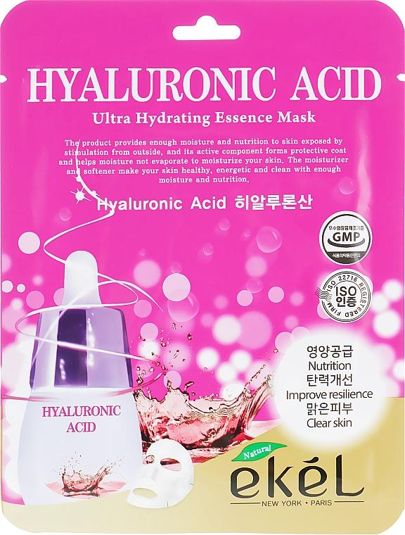 Hyaluronic Acid Sheet Mask - Ekel Hyaluronic Acid Ultra Hydrating Essence Mask