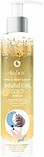 Fragrances, Perfumes, Cosmetics Body and Hand Lotion - Kabos Shimmering Gold Hand & Body Lotion