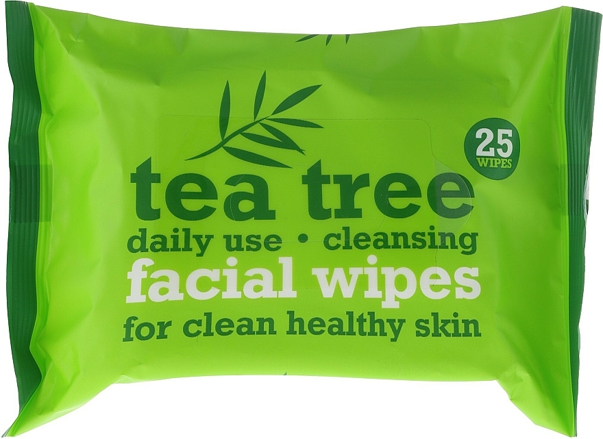 Facial Cleansing Wipes 25 pcs - Xpel Marketing Ltd Tea Tree Facial Wipes For Clean Healthy Skin