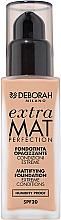Fragrances, Perfumes, Cosmetics Mattifying Face Foundation - Deborah Extra Mat Perfection SPF20