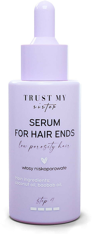 Low Porosity Hair Serum - Trust My Sister High Porosity Hair Serum For Hair Ends — photo N1
