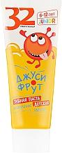 Fragrances, Perfumes, Cosmetics Enamel Strengthening. Juicy Fruit Kids Toothpaste - Modum 32 Pearls Junior