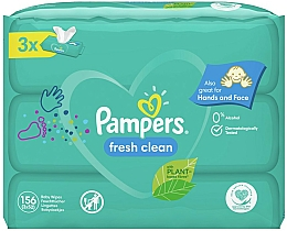 "Fragrances, Perfumes, Cosmetics Baby Wet Wipes ""Baby Fresh Clean"", 3x52 pcs - Pampers"