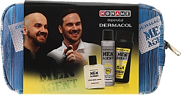 Fragrances, Perfumes, Cosmetics Set - Dermacol Men Agent Total Freedom (sh/gel/250ml + after/shave/lotion/100ml + deo/spray/150ml)