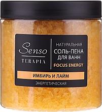 "Fragrances, Perfumes, Cosmetics Natural Bath Salt-Foam ""Ginger & Lime"" - Senso Terapia Focus Energy"