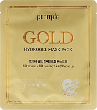 Fragrances, Perfumes, Cosmetics Hydrogel Face Mask with Golden Complex +5 - Petitfee&Koelf Gold Hydrogel Mask Pack +5 Golden Complex