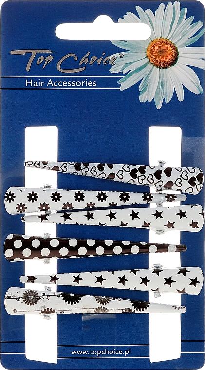 Hair Claws, 25020, black-white - Top Choice